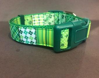 St. Patricks Day Dog Collar Adjustable
