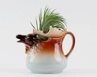Vintage Porcelain Moose Creamer Pitcher - Made In Austria - Czeck Porcelain