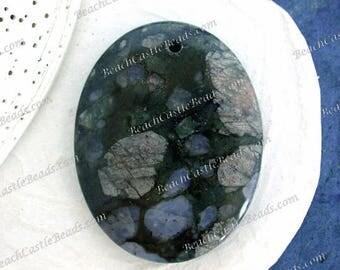 Semi Precious Stone Pendant, Green Ice Jasper, Natural Stone Pendant, Hand Crafted Stone Pendant  SP-158-10