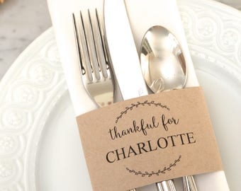 Thanksgiving PERSONALIZED NAME CARDS
