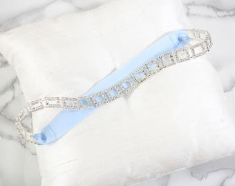 Rhinestone with Simple Elastic Single Wedding Garter, Single Wedding Garter, Rhinestone Wedding Garter