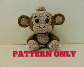 Monkey  Amigurmi Doll - PATTERN ONLY