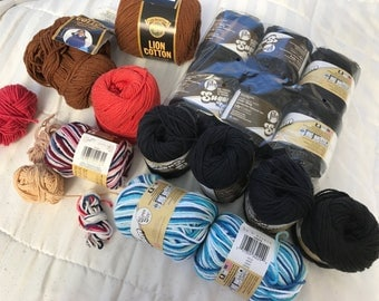 Rich Colors cotton yarn mixed lot