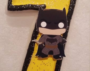 Super Hero Batman  Birthday Number Candle