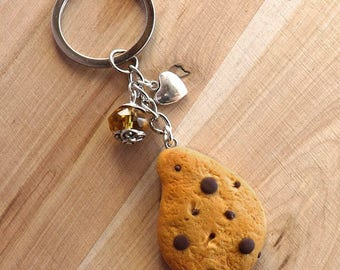 Polymer clay pendants cookie keychain