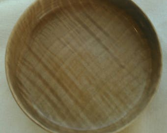 Quilted Maple Shallow Turned Bowl
