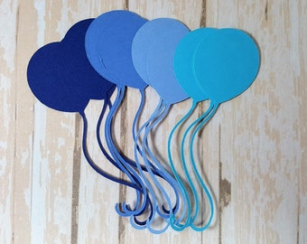 12 balloon die cuts, Birthday Balloons, Balloon Embellishment, Pick your color