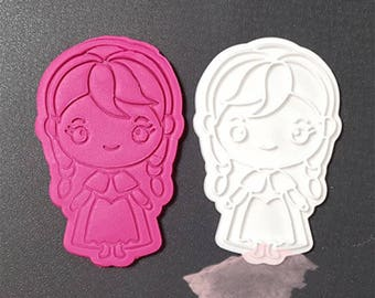 Frozen 3D Cookie Cutters/Anna Cookie Stamp/Embossing Cookie Mold/Fondant Tools/Theme Party