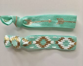 hair tie bracelets, beach bracelets, party favour, aztec bracelet, beach accessory, friendship bracelets, bohemian bracelet, girl gift