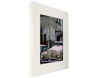 "Craig Frames, 16x20 Inch Liquid White Picture Frame, Bauhaus 200, 2"" Wide (BW744601620)"