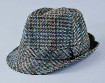 "Vintage Men's Balke Grey Wool Fedora Trilby Hat Film Noir Medium 56cm 22"""