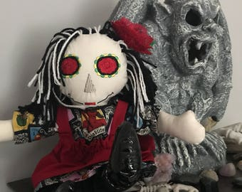 ready to ship Day of the Dead Raggedy Ann style doll