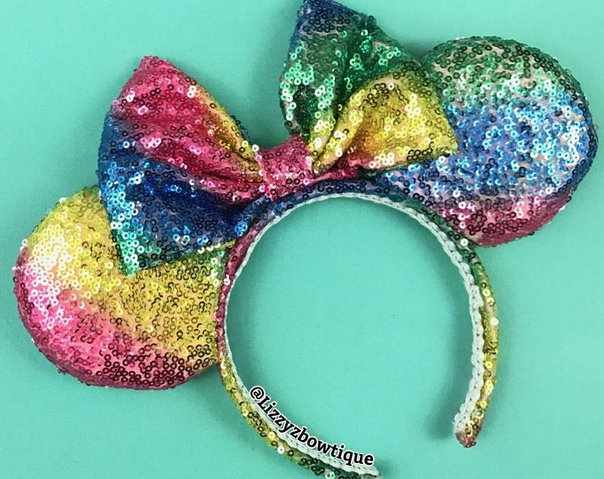 Lollipop Swirl Sequin Minnie ears
