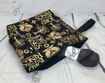 Lord of the Rings project bag for knitting or crochet