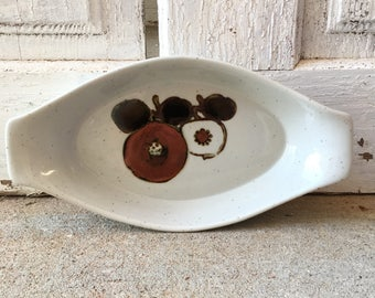 Vintage modern otagiri oval stoneware baking dish serving ware kitchen and dining Made in Japan
