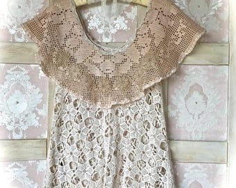 Charming Vintage Style Crochet Tunic