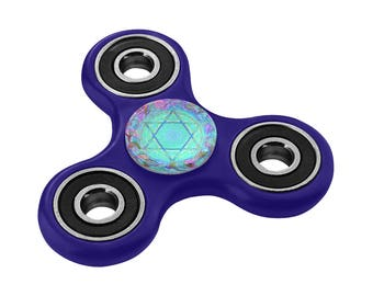 Judaica artistic Fidget spinner- Maguen david- Special collector- ADD & ADHD - hand painted- toy for everybody-men-women-kids- original gift