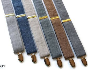 Linen Suspenders~Groomsmen Accessory~HoBo Ties~Groom~Wedding Suspenders~Natural Linen~Mens suspenders~Wedding Accessory
