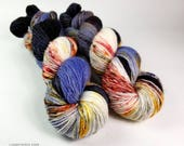Sadie Soft Single Ply, Hand dyed yarn, Superwash merino wool, 400 yds/ 100g: Calaca.