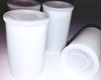 Film Canisters 10 Empty Great for Storing Beads, Craft Supplies, Buttons, etc 35mm Plastic Film Bottles with Lids