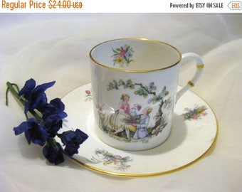 30% Off Clearance Sale Vintage Royal Bone China Worcester Watteau Teacup & Saucer-Wildflowers-Made in England-1960's