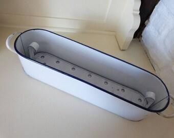 Vintage Enamel Steralization Tray For Dental or Surgical Instruments Medical