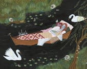 PRINT - The Lady of Shalott - Lisa Vanin