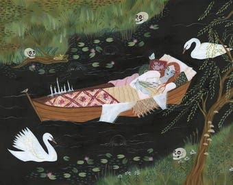 PRINT - The Lady of Shalott - Lisa Vanin