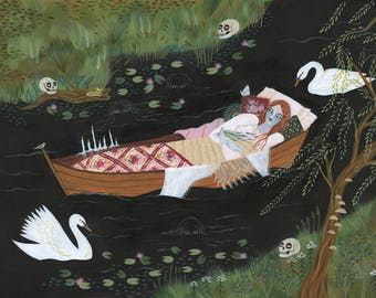PAINTING - The Lady of Shalott - Lisa Vanin