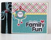 Family Scrapbook Kit or Premade Album 16 pages 4x6 inch Binder album Doodlebug So Punny
