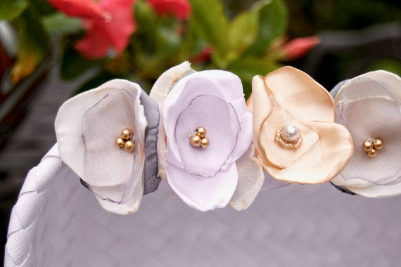Bundle of 13 Two Inch Assorted Handmade Mini Bridesmaids Flower Girl Bridal Hair Flowers