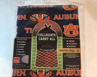 Auburn Tigers Laundry Bag-Auburn University Laundry Bag-Brand New