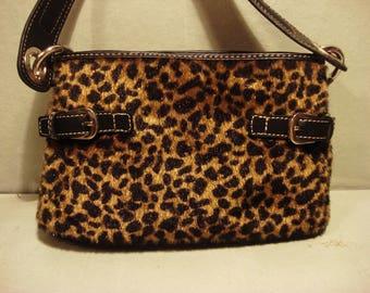 Vintage 1995 Tommy Hilfiger Animal Print Handbag