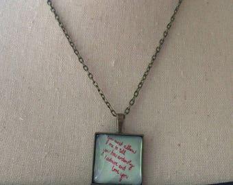 Handmade Jane Austen Jewelry - Mr Darcy Bronze Necklace, Handmade Mr Darcy Jewelry, Handmade Pride and Prejudice Jewelry, P & P Jewelry