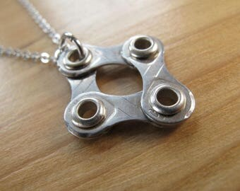 Bike Chain Link Necklace -  Recycled Jewelry - Bicycle