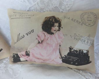 French Paris I Miss You Girl, Lavender Gift Sachet, Paris Postcard, Antique Typewriter, Miss You Gift, Vintage Style Gift
