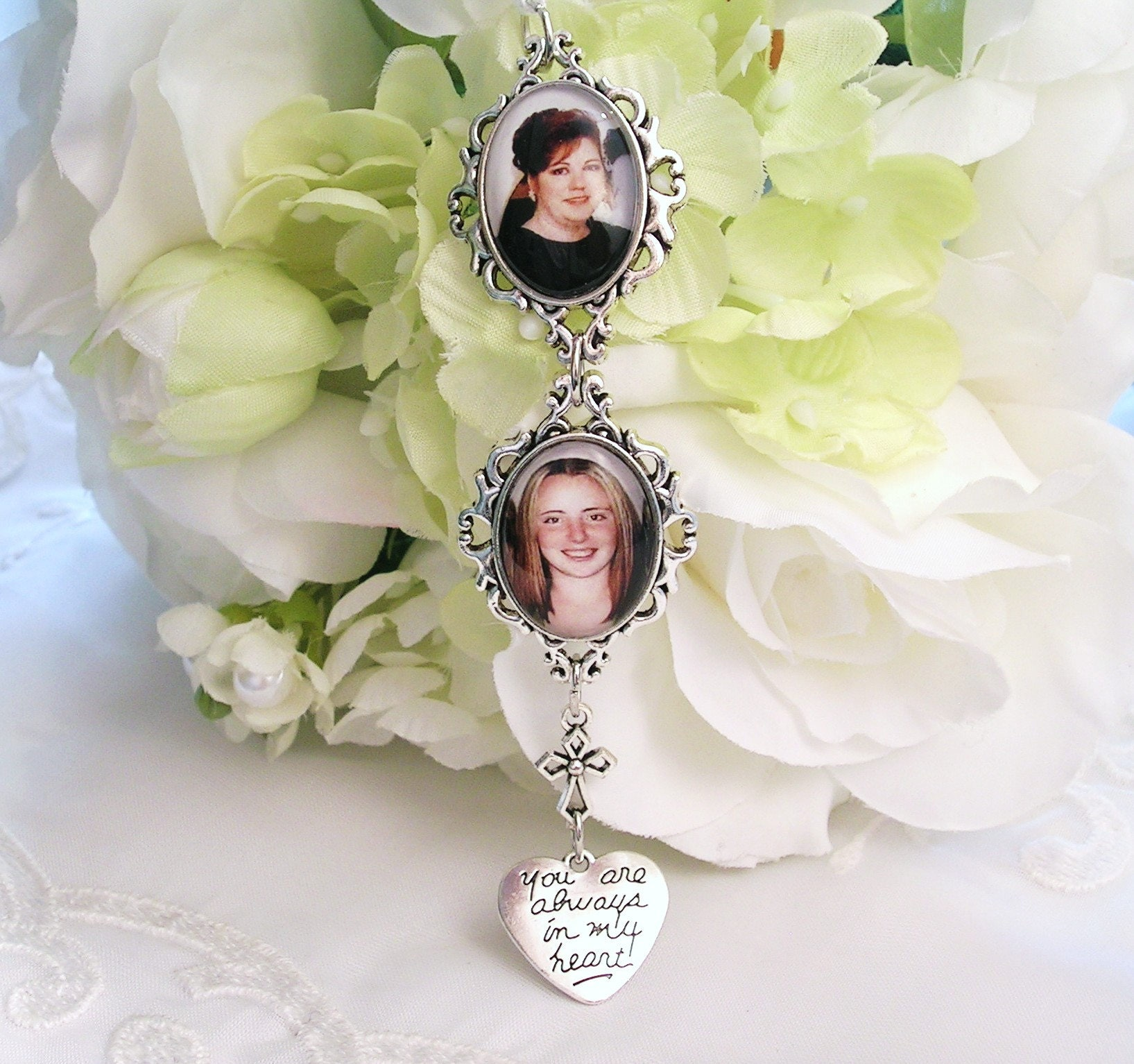 wedding bouquet charm bridal bouquet charm 2 photo charms gift for 8446