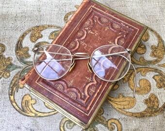 Handsome Pair of Edwardian Era 12K Gold Filled Bifocal Eyeglasses
