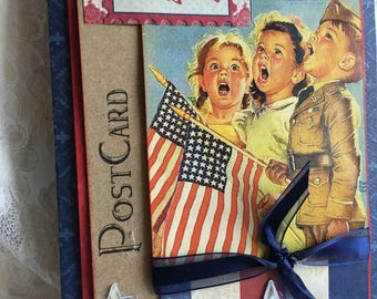 All American ~~~ Independence Day ~~~~  Vintage Memento~~~  Card or Decor