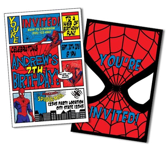 Superhero Invitation Spiderman Birthday Invitations Spiderman