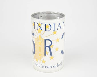 Indiana License Plate Pencil Holder - Back to School supply - Dorm Room Decor - Graduation Gifts - Flower Vase - Indiana souvenir