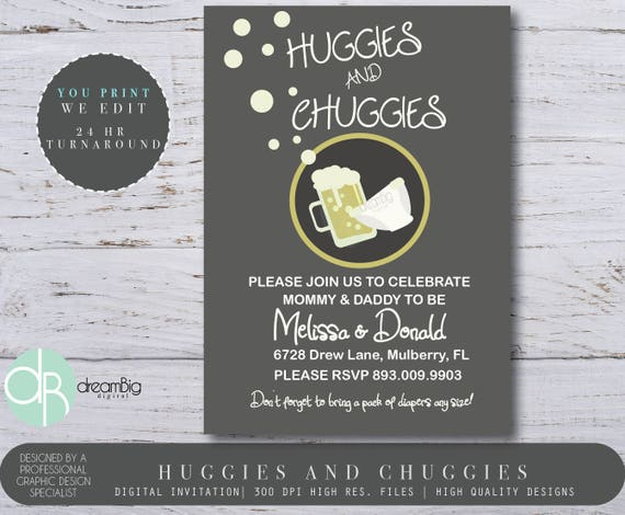 Huggies and chuggies baby shower invitations modern baby shower il570xn filmwisefo
