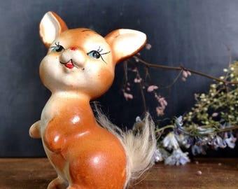 ON SALE Vintage Danish 1950s Rabbit Figurine