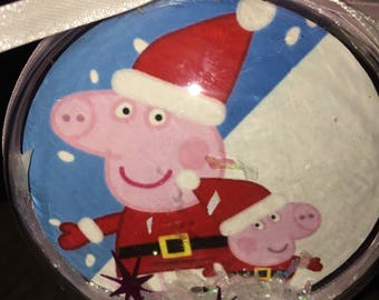 Christmas peppa pig themed ornament
