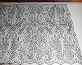 """No. 100 Antique Silk French Lace; 15"""" x 5.5 Yards, Pristine, No Sizing"""
