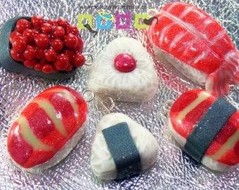Kawaii Sushi Charms - Individual or Set