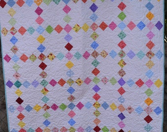 Nine patch lap or baby quilt