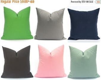 15% Off Sale Pillow Cover - Solid Pillow, Navy Pillow, Black Pillow, Green Pillow Cover, Pink Pillow, Accent Pillow ,Gray Pillow Cover, Deco
