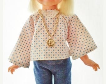 ON SALE Vintage 1970 Ideal Velvet Doll, Hair Growing Family Of Dolls, Violet Blue Eyes, Blonde Hair, Handmade Boho Outfit, Ideal Violet Shoe