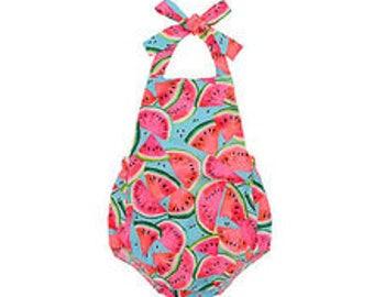Baby Infant Girl Watermelon Romper Sunsuit Bubble Sun Suit